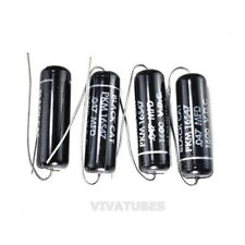 Lot Of 4x Vintage Black Cat Black Beauty Axial Oil Capacitor 047uf 600v