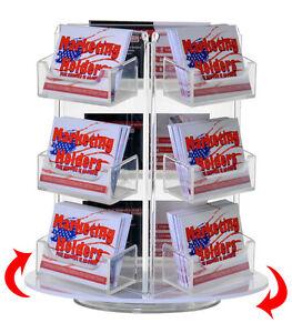 9 Pocket Rotating Business Gift Card Holder Counter Top Rack Display