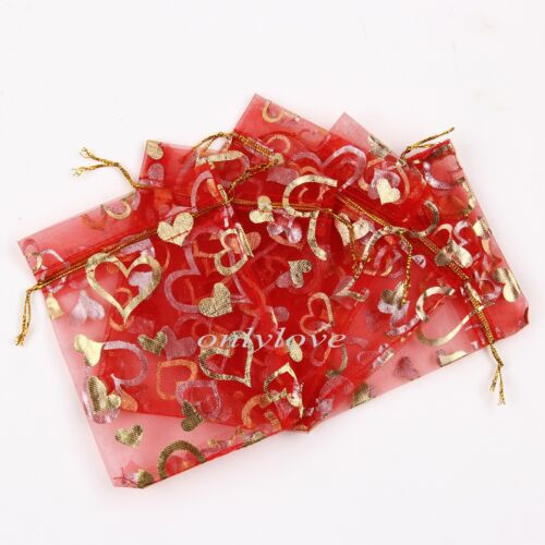 Organza Gift Bags Jewellery Christmas Packing Pouches Wedding Party Favour