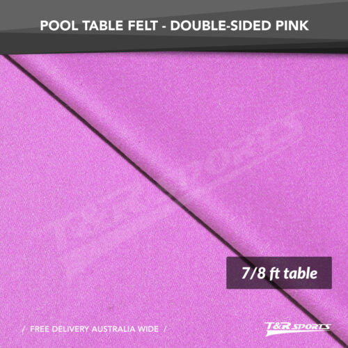 Pink Double-sided Wool Pool Snooker Table Top Cloth Felt for 7/8 Billiard Room