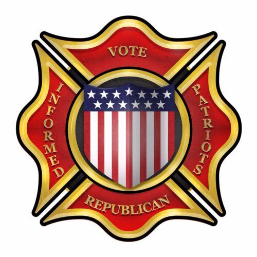 "/""INFORMED PATRIOTS VOTE REPUBLICAN/"" Bumper Sticker INFORMED PATRIOTS SCOREBOARD"