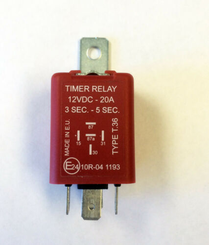 5 Seconds Timer Relay 12VDC 20 Amp Flip-Flop Positive 3 Seconds