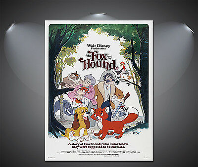 The Fox & Hound Vintage Disney Movie Poster - A1, A2, A3, A4 available