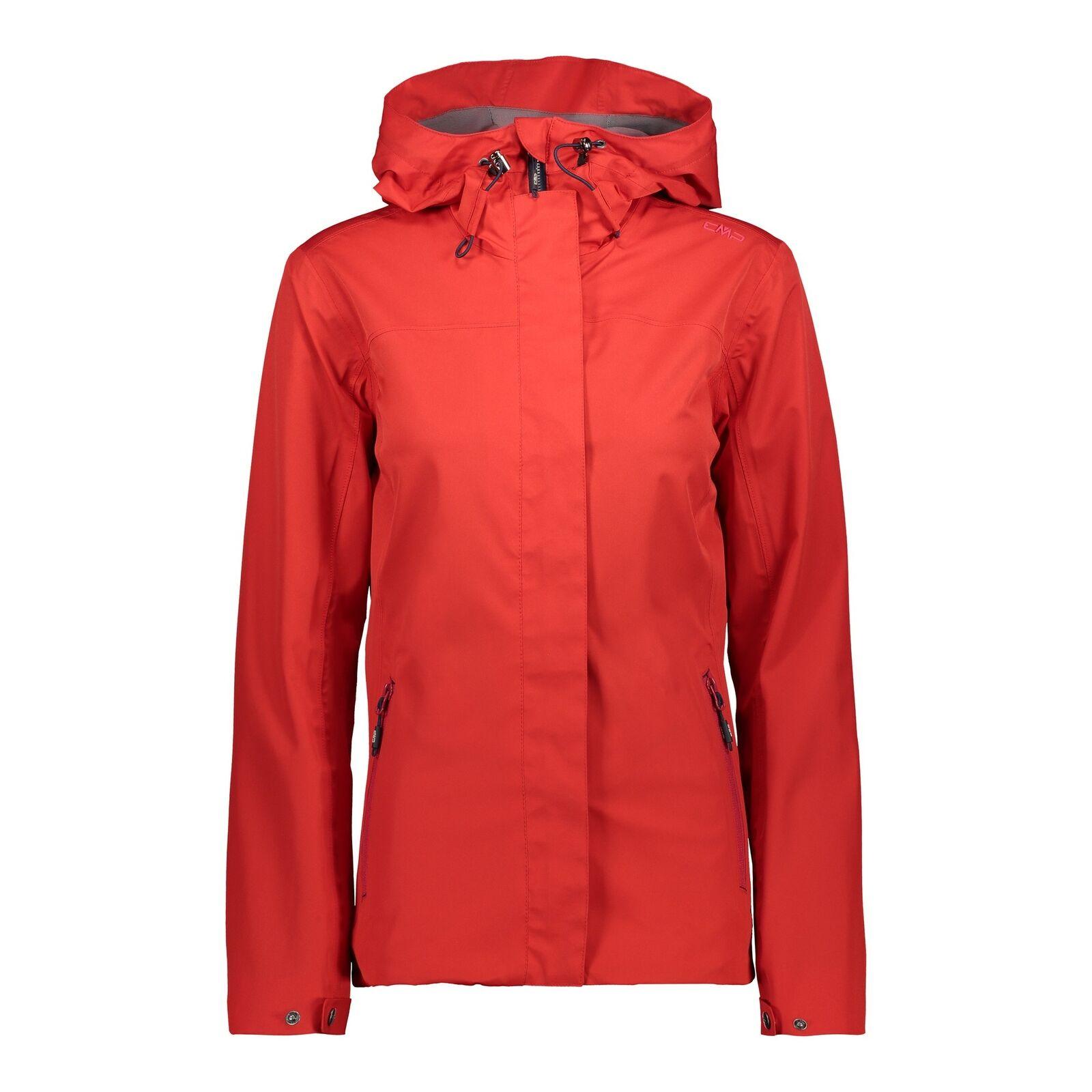 Funzione CMP Giacca Giacca Donna Fix Hood Jacket Rosso Impermeabile Traspirante