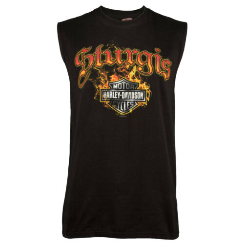 Sturgis Harley-Davidson® Men/'s Skull Edgy Sleeveless T-Shirt