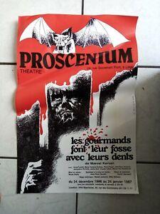 Proscenium  Theatre - Poster/Werbeplakat 1987 -  38x 57 cm