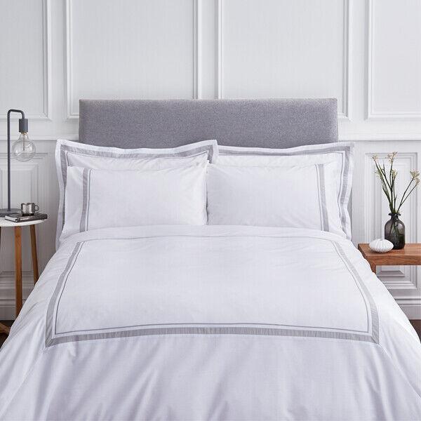 Weiß Hepburn Panel 100% Cotton Duvet Startseite Set