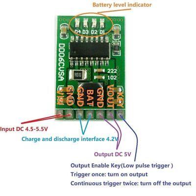 5v 2.1a Kostenlos Entladung Verstärkung Leistungsmodul 3.7v 4.2v Li-ion 18650