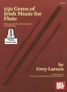 150 Gems Of Irish Music For Flute Sheet Music Book With Audio Gris Larsen-afficher Le Titre D'origine Facile à Utiliser
