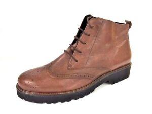 Stiefeletten 8 Schuhe Stiefel 42 Braun Schnürstiefeletten Leder Semler Gr gqfFpqR