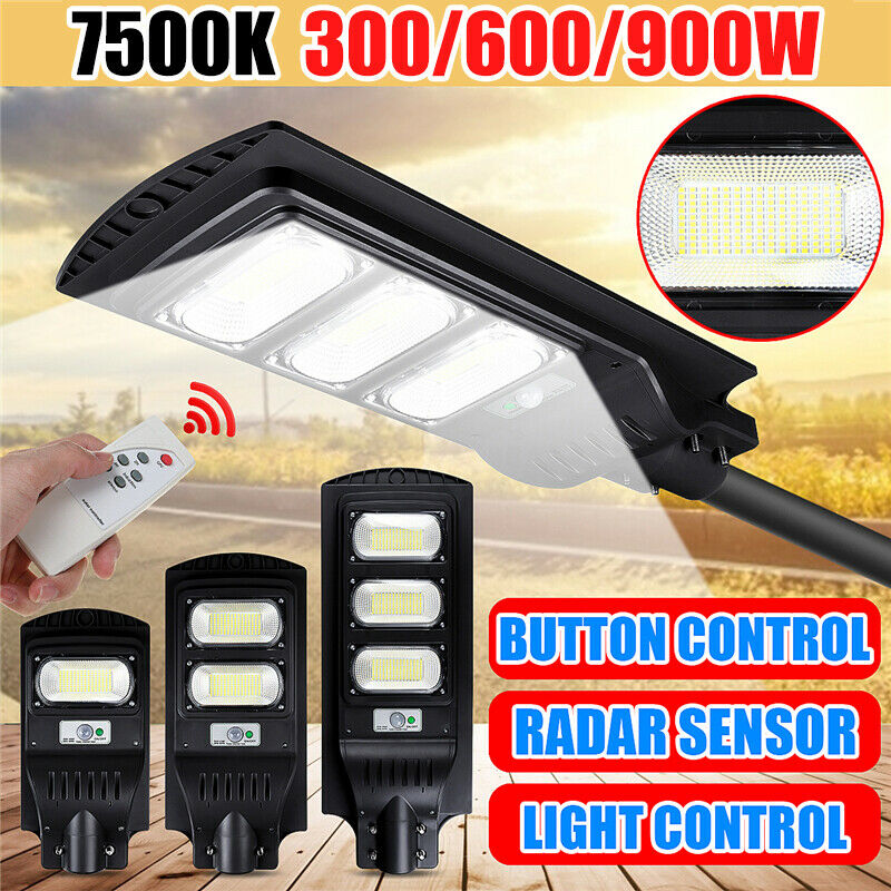 900W 450 LED Solar Street Light PIR Motion Sensor Outdoor Wall Lamp