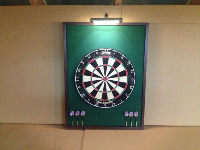 Custom Dart Board Backboard Cabinet & DMI Staple- Sisal Bristle ...