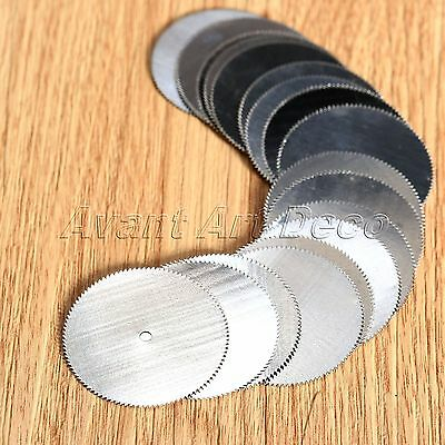 20/40Pcs 32mm Stainless Steel Cutting Off Discs Wheel Blades Power Rotary Tools