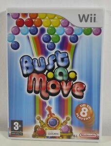 BUST A MOVE Nintendo Wii Gioco Quasi Nuovo Completo Pal UK veloce GRATIS P&P Puzzle