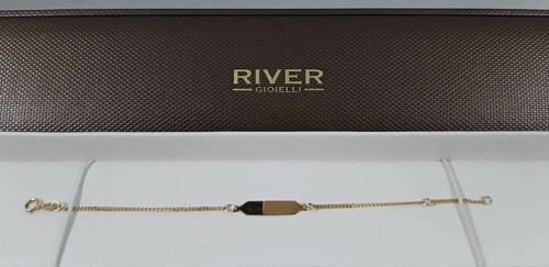 Bracciale bimbo/a in oro giallo 18 kt con targhetta-Child bracelet in 18 kt gold