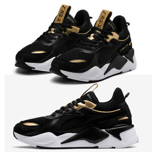 84c466127a5 Image is loading Puma-Trophy-RS-X-Shoes-Sneakers-Authentic-Black-