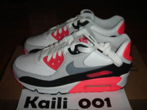 Details zu Nike Air Max 90 (GS) Infrared OG Neon Lime JD Hulk Neon Leather B