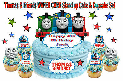 Phenomenal Thomas The Tank Engine Personalised Birthday Cake Topper Edible Funny Birthday Cards Online Overcheapnameinfo