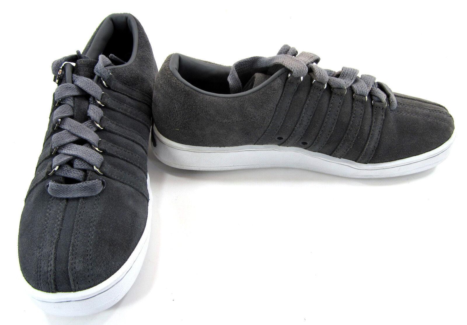 K-Swiss Shoes Suede Classic Lo Ribbed Gray Sneakers Size 8.5 Scarpe classiche da uomo