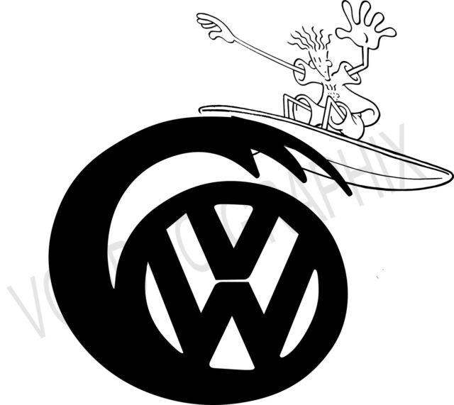 Volkswagen vw extra large 17 surf logo stickers x2 transporter t5 t4 campervan