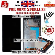 For Sony Xperia Z3 D6603 LCD Display Touch Screen Digitizer Frame Black Assembly