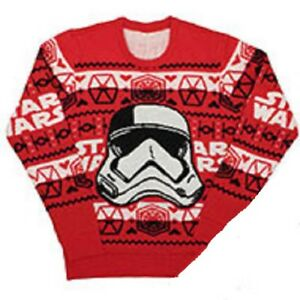 New Stormtrooper Star Wars Ugly Christmas Sweater Think Geek Womens