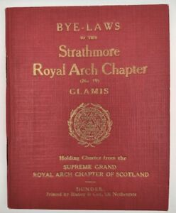 """Nice Masonic Book """"STRATHMORE ROYAL ARCH CHAPTER No 19 GLAMIS DUNDEE DATED 1920"""""""