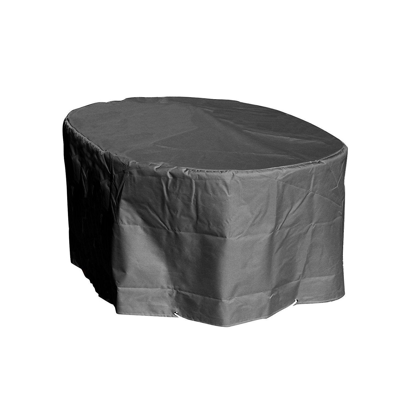 Housse de protection table ovale de jardin Haute qualité polyester 250x110x70cm