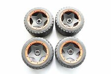 Front and Rear On Road Wheel Tire Wheel Set fit HPI Baja 5B SS Rovan King motor