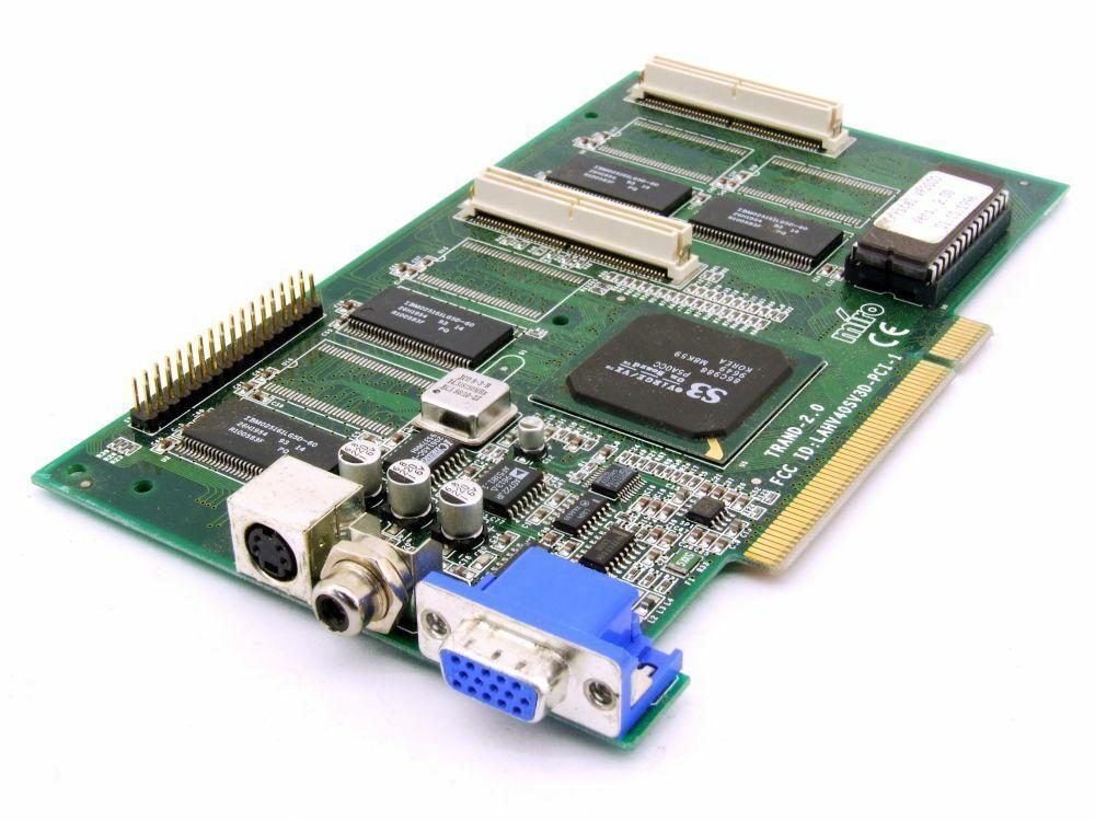 Miro TRAND-2.0 Crystal VR2000 2MB PCI VGA Graphic Card Video Board B Stock/B