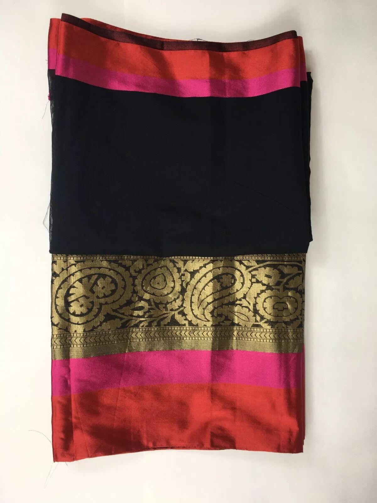 Traditional South Asian Bangladeshi Mirpur Katan Saree, Sharee, Multicoloured