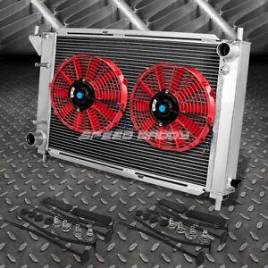 """3-ROW ALUMINUM RADIATOR+2X 10/""""FAN KIT FOR 98-11 FORD RANGER//EXPLORER//B4000 l4//V6"""