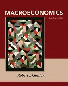 Brand new. Macroeconomics by robert j. Gordon 12th intl ed.