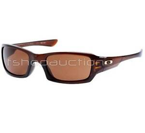 a85e4f0d4e Oakley 03-442 Fives Squared Polished Rootbeer Dark Bronze Lens Mens ...