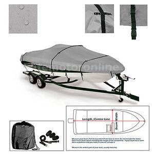 Skeeter ST 15 Trailerable Fishing Bass Boat Cover grey   eBay