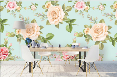 Hand-painted Rose Self-adhesive Removeable Wallpaper Wall Mural Wall Sticker 320
