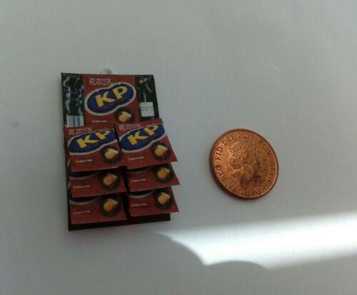 Tuercas en tarjeta para KP Tostado Dollshouse pub Dulce Miniatures Escala 1//12