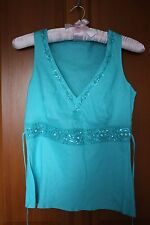 Marks and Spencer sequened turquoise top size 8 BNWT