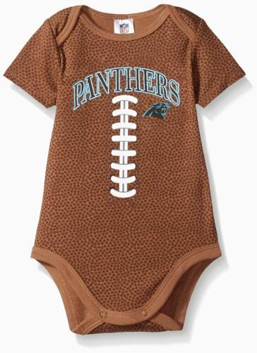 NFL Infants Carolina Panthers Football Bodysuit, Brown