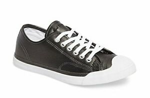 Details about Converse Jack Purcell LP Metallic Leather Ox Sneaker 5 B(M) US Women Black Pearl