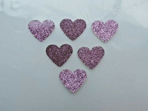 50 Small Pink Love Hearts Waterproof Stickers Self Adhesive FREE UK DELIVERY!