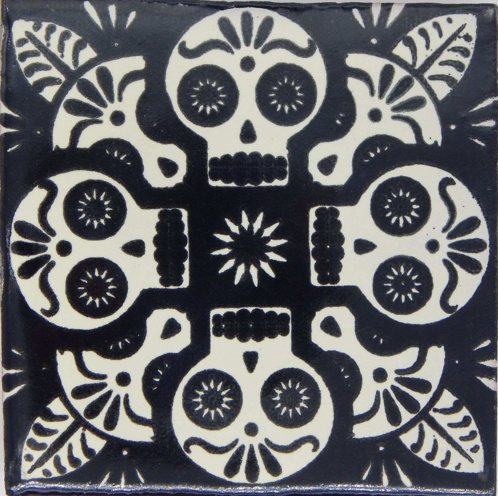 100 Mexican Talavera tiles 4x4 Decorative Folk Art Handmade C399