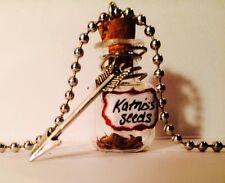 Hunger Games Inspired Katniss Seed  'Potion' Bottle Necklace Handmade Everdeen