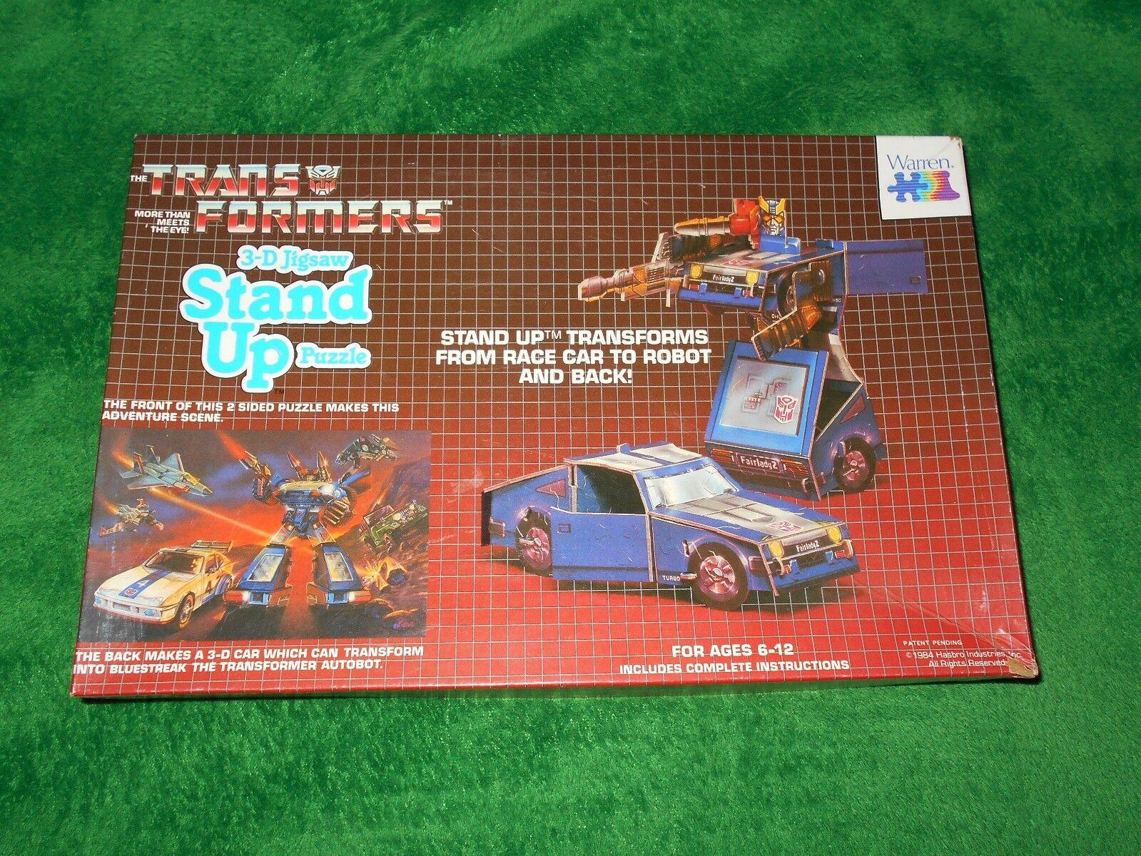 Transformers 3D puzzle by Warren  blueestreak  1984