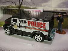 2015 POLICE SQUAD Design INTERNATIONAL ARMORED CAR☆Black;white 6s☆LOOSE☆Matchbox