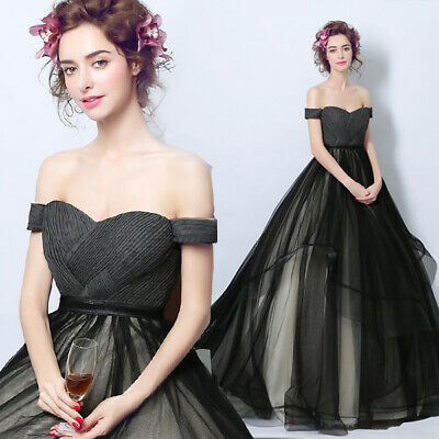 New Evening Formal Party Ball Gown Prom Bridesmaid Off-shoulder Dress TSJY5053