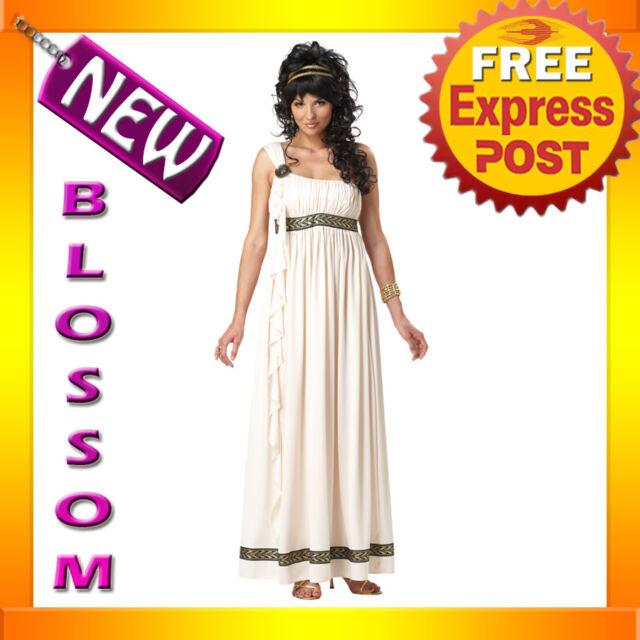 C145 Olympic Goddess Greek Roman Toga Halloween Fancy Dress Adult Costume Outfit