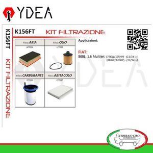 Servicesatz-Filter-Fiat-500L-1-6-Multijet-03-13-gt-77-88-Kw-Ydea-K156FT