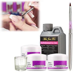 US-Professional-Nail-Art-Kits-120ml-Acrylic-Liquid-3-Colors-Acrylic-Powder-Kit