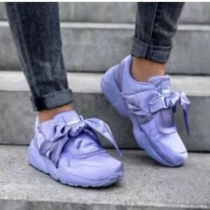 Details about New FENTY PUMA BY RIHANNA Lavender Bow Sneakers Size 8.5 $159.99